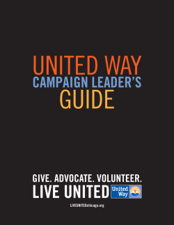 United Way Guide Cover